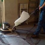 Lavado, ignifugado y tratamiento antiéstatico de pavimentos textiles