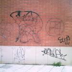 Limpieza de graffittis en ladrillo