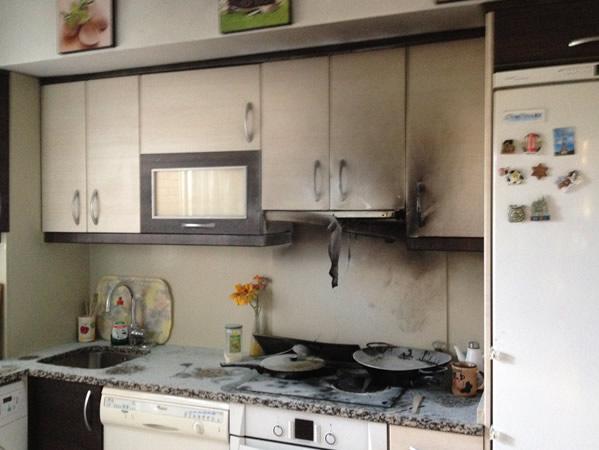 Limpieza de cocina por incendio de campana