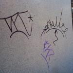 Limpieza de graffittis en mármol